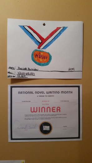 My 2014 almost win award my daughter mad me and this years certificate.